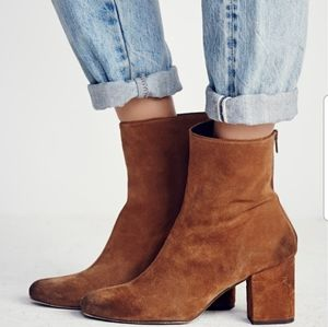 Free People Cecile Block Ankle Boot